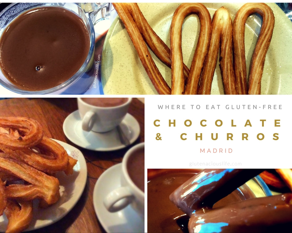 Where to eat Gluten-Free Chocolate con Churros in Madrid | GlutenaciousLife.com